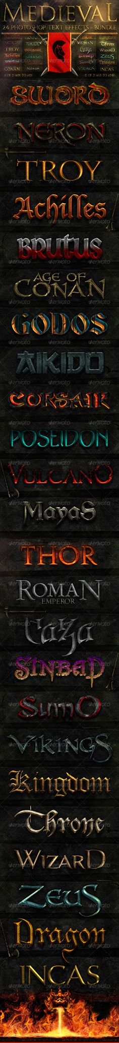 Medieval Photoshop Text Effects [BUNDLE]