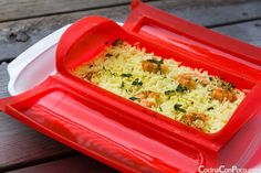 Arroz con curry y gambas - Vaporera Lekue - Receta al Vapor Arroz Al Curry, Rice Recipes, Healthy Recipes, Recipies, Healthy Life, Healthy Eating, Shrimp And Rice, Steamer Recipes, Curry Shrimp