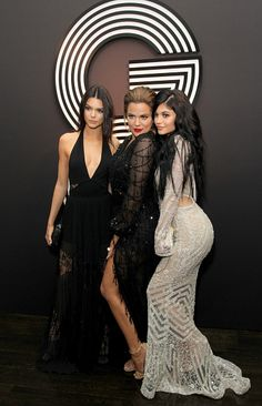 Febuary 8th 2015 - Kylie at the GQ and Giorgio Armani 57th Annual Grammy's Award Show afterparty with Kendall Jenner and Khloe Kardashian at the Hollywood Athletic Club in Hollywood.