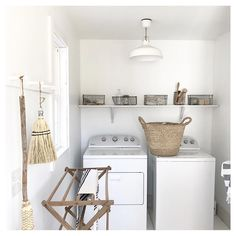 """1,185 Likes, 24 Comments - Angie Wendricks (@countyroadliving) on Instagram: """"..simple , sunny laundry room 👕👖🚿 #simpleliving #slowliving #seekthesimplicity #laundryroom…"""""""