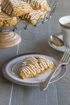 Iced Gingerbread Oat Scones