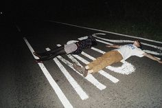I've done this :,) just laid in the middle of the road with a friend. Good times :D