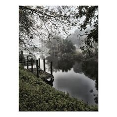 The canal on a foggy morning.