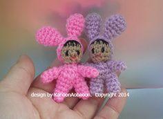 Baby in Bunny Ears Amigurumi Doll ~ Free Crochet Pattern