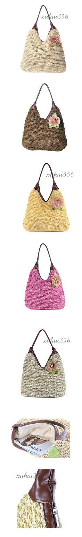 Bolsa de palha bolsa de praia bolsa de palha de malha 2016 das mulheres uma bolsa de ombro ocasional flor breve em Bolsas de Ombro de Bagagem & Bags no AliExpress.com | Alibaba Group