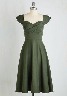 #AdoreWe #ModCloth Dress - ModCloth Pine All Mine Midi Dress in Evergreen - AdoreWe.com
