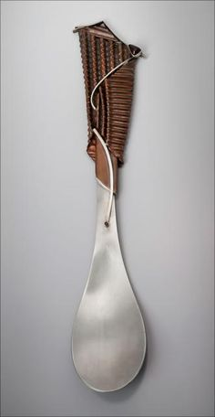 """Corrugated Spoon From the Ganoksin Online Exhibition: """"Differences Unite Us"""""""
