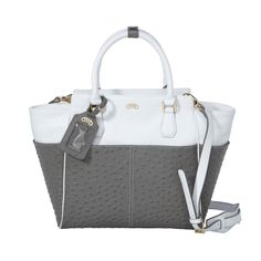 Girlfriend Satchel Gray - Love the colors and textures!