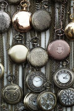 Pocket watches-- not to remember time, but to remember memories