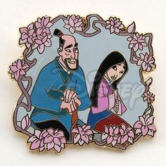 DISNEY PINS MULAN & FA ZHOU with Blossoms LE 500