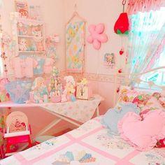Pastel Room, Pastel House, Pink Room, Cute Room Ideas, Cute Room Decor, Room Ideas Bedroom, Girls Bedroom, Bedrooms, Kawaii Bedroom