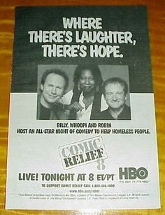 1998 COMIC RELIEF 8 HBO TV ad