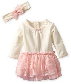 Baby girl clothes# Vitamins Baby Girls Newborn 2-Piece Dress Set Tutu