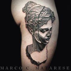 Sculpture tattoo etching Marco C. Matarese Milan