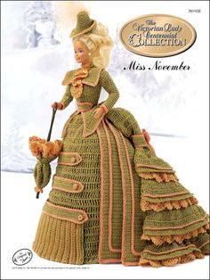 Barbie Crochet: Centennial Miss November 1993. $3.95 on e-PatternsCentral