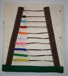 quiet book by hiidy- this counting beads page is very neat.