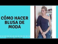 DIY Como Hacer Blusa Asimetrica Con Manga Bombacha/patronaje /confeccion - YouTube V Neck, Album, Sewing, Youtube, Tops, Hacks, Jewelry, Fashion, Vestidos