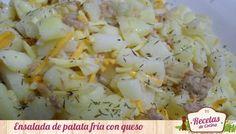 ensalada fr%C3%ADa de patata y queso Ensalada fría de patata,atún y queso, cena saludable