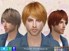 NewSea: YU108 Pineapple donation hairstyle • Sims 4 Downloads