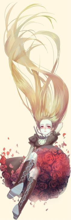 Fallen rose. So beautiful <3 - Anime