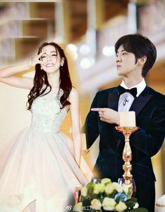 Luhan, Kim Ji Won, Girls Dresses, Flower Girl Dresses, Kris Wu, Deli, Chinese, Couples, Wedding Dresses