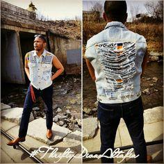Totally Destroyed African Print Vest #levis Totally Destroyed African Print Vest #levis Levi's Jackets & Coats Vests