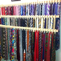 I made this tie rack for  my husband who loves to buy ties... He wears one 6 days a week.