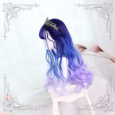 Pelo Lolita, Lolita Hair, Kawaii Hairstyles, Pretty Hairstyles, Wig Hairstyles, Cosplay Hair, Cosplay Wigs, Kawaii Wigs, Mode Lolita