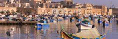 Marsaxlokk Hotels & Resorts, Online Booking for Accomodation in Malta - Modern Mediterranean Sea, Archipelago, Sicily, Hotels And Resorts, Malta, Perfect Place, Street View, Island, Country