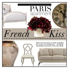 """""""French Kiss"""" by elisapar ❤ liked on Polyvore featuring interior, interiors, interior design, home, home decor, interior decorating and parisapartment"""