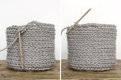 DIY DIY & Jutekörbchen mit Henkel häkeln & mxliving The post DIY appeared first on Monica Lenihan. Crochet Diy, Crochet Amigurumi, Crochet Pattern, Free Knitting, Baby Knitting, Knitting Patterns, Learn How To Knit, How To Start Knitting, Knitting Projects