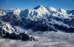 Aerial view of the Himalayas, Nepal (© National Geographic Image Collection/Alamy)