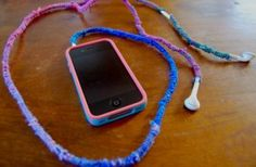 wrapped ear buds, no more tangles. tutorial.