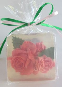 Romantic Gift Soaps in Gift Boxes Rose Soap