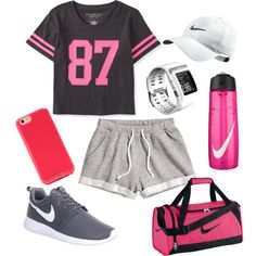 Untitled #120 by teneciadavis on Polyvore featuring polyvore fashion style Aéropostale H&M NIKE Sonix