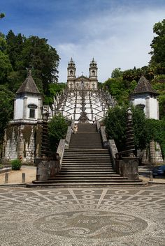 Stairs to Bom Jesus do Monte sanctuary, Braga, Porto & Northern Region, Portugal