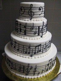 A music cake