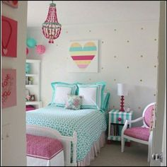 I want my bedroom, and the entire interior of my home, decorated in all the shades of the pastel rainbow.