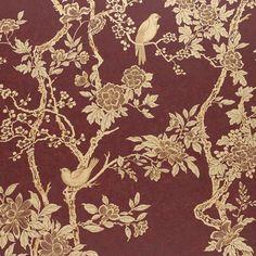 **Marlowe Floral - Garnet - Florals - Wallcovering - Products - Ralph Lauren Home - RalphLaurenHome.com