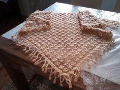 Örgü işleri omuz atkısı (şal örgü) shoulder scarf ( shawl )وشاح الكتف ( شال ) - YouTube