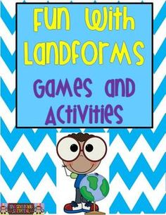 Fun games and activities to teach landforms.  I can't wait to use these games with my students! :-)