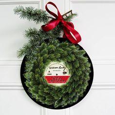 vinyl record christmas wreath by betsy benn | notonthehighstreet.com