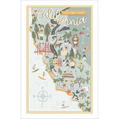 Ulster Weavers Cotton Tea Towel - California (100% Cotton, Green)
