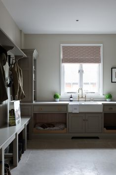 The timeless Toki white waffle tea towel by Coze Linens (draped over the large butler sink) in this boot room looks so great with the dark grey HM monogram. Mudroom Laundry Room, Laundry Room Layouts, Laundry Room Remodel, Laundry Room Design, Open Plan Kitchen, Country Kitchen, New Kitchen, Küchen Design, House Design