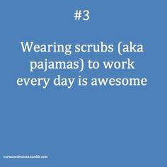 Wearing scrubs http://tmiky.com/pinterest