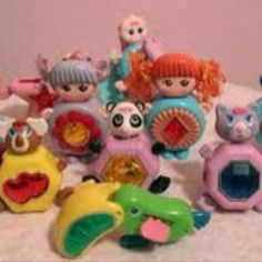 Sweet Secrets toys from the Transformed from dolls into jewels. I couldn't remember what these were called for the longest time either. I had a bunch of these too! 1980s Childhood, Childhood Memories, Retro Toys, Vintage Toys, 1980 Toys, Fraggle Rock, Safari, 80s Kids, Kids Tv