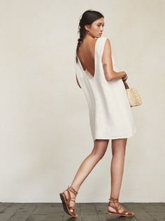Loose and natural, like your parents in the 70s. The Barbados Dress. https://www.thereformation.com/products/barbados-dress-off-white?utm_source=pinterest&utm_medium=organic&utm_campaign=PinterestOwnedPins