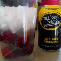 Mikes hard lemonade with cherries!!