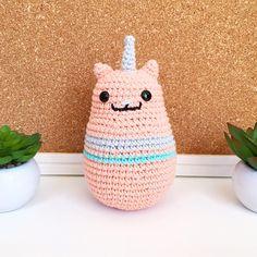 Gaticornio rosado - hechos por Florencia Rodríguez para Kitsune Shop  #crochet #amigurumi #caticorn #cute