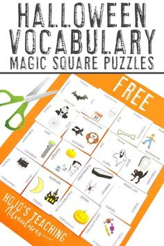This FREE Halloween activity is perfect for an October center or station, or save it for use during a #Halloween classroom party. Homeschool kids and #UpperElementary 3rd, 4th, or 5th grade students love this one! It's great for vocabulary, ELL or ESL, early or fast finishers, and more. Click to get your freebie now! #HalloweenGame #HalloweenActivity #3rdGrade #4thGrade #5thGrade #ThirdGrade #FourthGrade #FifthGrade Phonics Activities, Hands On Activities, Book Activities, Fifth Grade, Third Grade, Halloween Vocabulary, 5th Grade Classroom, Halloween Activities For Kids, 5th Grades